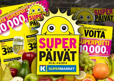 K-supermarket Superpäivät. Ilmeen faceliftaus ja superpotin synnyttäminen.