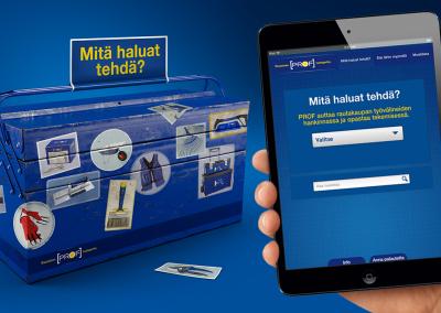 Rautakesko - Rautainen Prof-tuoteperhe. Palvelumuotoilun pohjana brändistrategia.