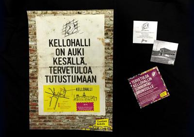 Kellohalli - Slogan ja ilme.