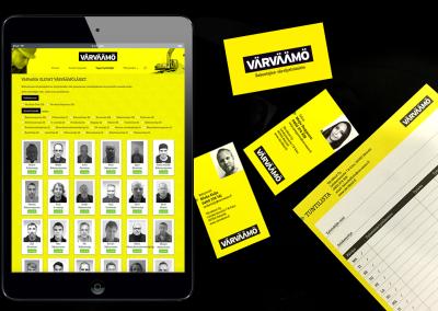 Värväämö - Ilmeen suunnittelu painettaviin materiaaleihin ja palvelumuotoilu digi-ympäristöön. www.varvaamo.fi
